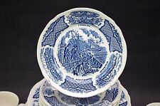 "(4) Meakin FAIR WINDS Dessert Salad Plates 7"" Historical Scenes Chinese Export"