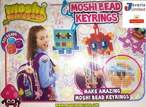 Moshi Monsters 4 Pack Bead Keyring Set Make Your Own Kit 600 BEADS