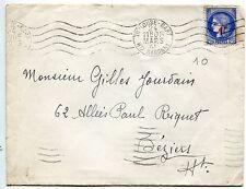 LETTRE TOULOUSE GARE / BEZIERS 1941 SEUL SUR LETTRE DU N° 487