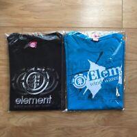 Lot of 2 Y2K Element Skateboard Short Sleeve Shirts Size L Skate Surf Vintage