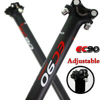 Bicycle 3K Full Carbon Fiber Seatpost MTB Road Bike  27.2/30.8/31.6*350/400mm