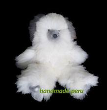 18in. Baby Alpaca Teddy Bear. Grey & White. Handmade by skilled craftsmen.