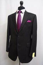 Men's Gieves & Hawkes Savile Row Charcoal Pinstripe Suit 40R W34 L28 SS8710