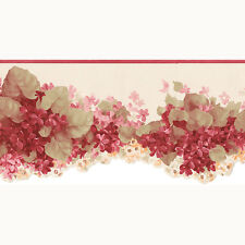 CO77197DC - Pretty Prints 4 Floral Cream Red Galerie Wallpaper Border