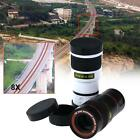 1x Universal 8x Zoom Magnifier Camera Lens For Mobile Phone Telescope Clip-On YO