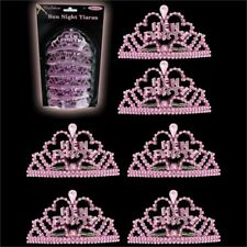 12 X Hot Pink Hen Night Party Mini Tiara Miss Behave Accessory Fancy Dress