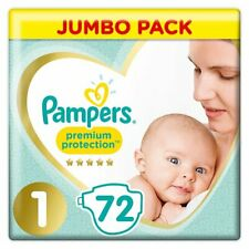 Pampers Baby Size 1 Jumbo Pack 72 Nappies