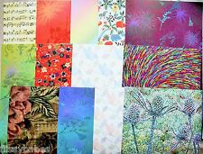 2 x A4 Animal/Floral/Patterned/Butterfly 8 Options Backing Paper NEW