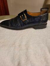 Mens Blue Dress shoes Genuine Alligator - Size 10.5 D