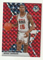 2019-20 Panini Mosaic Prizm RED Magic Johnson USA Basketball #255 Lakers HOBBY