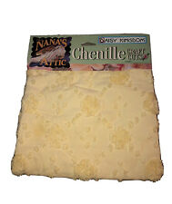 Daisy Kingdom Chenille Craft Cuts Nanas Attic Fabric Yellow 100% Cotton 17x28