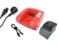 PowerSmart Chargeur d'Accu pour HILTI SFL 24, UH 240-A, WSC 6.5, C7/24, Rouge
