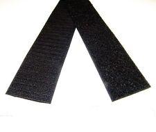 "Velcro 2"" Inch, Hook & Pile Tape, Black, Sew-on Type, 12 Inch Lengths Uncut"