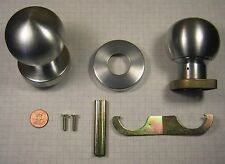 SCHLAGE #42A MORTISE LOCK KNOB TRIM SET, WROUGHT BRASS, SATIN CHROME-PLATED