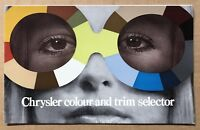c1974 Chrysler Colour and Trim Selector original Australian sales brochure