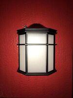 2 Black Outdoor Wall Lantern Frosted 52000BPCGU 7.75 x 9.75 Dusk Dawn GU24 TCP
