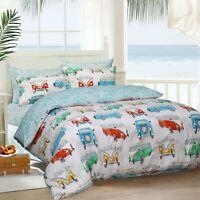 Sleepdown TROPICAL CAMPERVAN Reversible Duvet Cover Set with Pillowcase