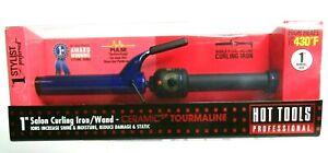 "HOT TOOLS PRO 1"" Salon Curling Iron Wand Ceramic Tourmaline Model PURPLE NEW"