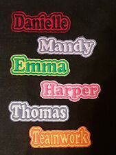 Personalised Embroidered Name Patch Badge B1 Iron on sew on