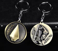 HOT Green Arrow Superhero Keyrings Justice League Keychain Key Ring Gold