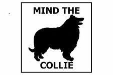 Mind the Collie - Gate/Door Ceramic Tile Sign
