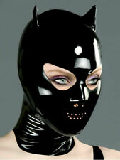 D-05 Devil Mask with Nose and Perforated Mouth Latex  With Back Zip D-05