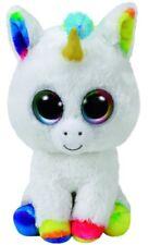 Beanie Boos TY Peluche Originale Pixy Unicorno Bianco 15cm Occhioni Grande