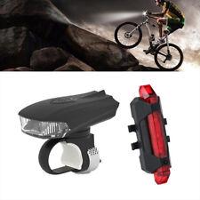 5 LED USB Rechargeable Bicycle Bike Motion Sensor Front & Tail Light Warning Set