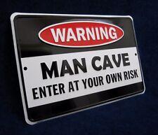 MAN CAVE - Embossed Metal Tin Sign - *MADE IN USA* - Garage Bar Rec Game Rm Shop