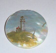 """New listing Wonderful Lighthouse Bald Head, Nc on Mop - Mother Pearl Shank Button 1-3/8"""""""