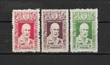 """Complete series 3 new stamps* French INDOCHINA  1943. """" YERSIN """"   (5413)"""