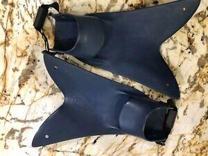 Force Fin Pro Scuba Fins in Blue, size XXL