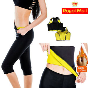 Neoprene Hot Sauna Sweat Body Shaper Stomach Slimming Waist Belt Fat Burner Suit