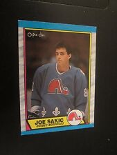 Joe Sakic 1989-90 O-Pee-Chee OPC #113 Rookie Hockey Trading Card NHL Nordiques