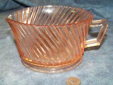 Hard To Find Vintage Federal Pink Diana Glass Creamer / Sm Gravy Boat