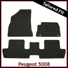 Peugeot 5008 2009 onwards Tailored Fitted Carpet Car Floor Mats BLACK