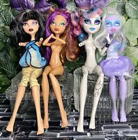 Lot 4 Monster High Doll Cleo De Nile Ghostly Twyla Rochelle Goyle Clawdeen Wolf