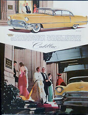 Vintage 1956 Cadillac car Hotel Mark Hopkins advertisement print ad