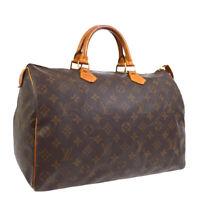 LOUIS VUITTON SPEEDY 35 HAND BAG MONOGRAM CANVAS LEATHER M41524  SP0934 38249