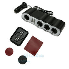 4 Way Multi Socket Auto Car Cigarette Lighter Splitter USB Plug Adapter Charger