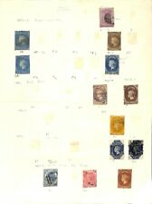 [OP6385] Ceylon lot of stamps on 10 pages