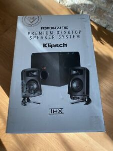 Klipsch ProMedia 2.1 THX Computer Speakers w Subwoofer NEW FLAWLESS CONDITION 🔥