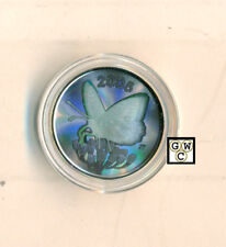 2005 Butterfly Hologram Great Spangled Fritillary 50ct Silver (11664) (OOAK)