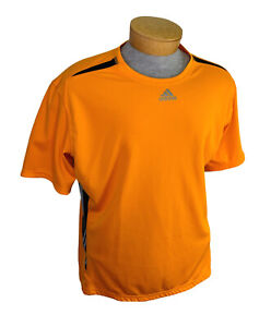 Adidas Climacool Activewear Short Sleeve T Shirt Pullover XL Extra Large Orange