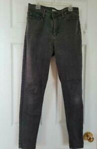 👖Levi Denizen High Rise Skinny Jeans Black Wash Denim Pants Men's Size 29x30