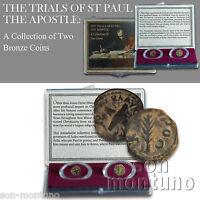 APOSTLE ST PAUL PRUTAH COIN SET - Ancient Felix Festus JUDAEA Procurator 52-62AD