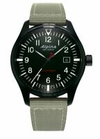 Alpina Startimer Pilot Men's Quartz Grey Nylon Strap 42mm Watch AL-240B4FBS6B
