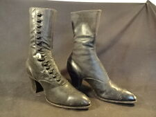 Old Vtg Antique Early 1900's The Hub Baltimore Women's Leather Button Up Boots
