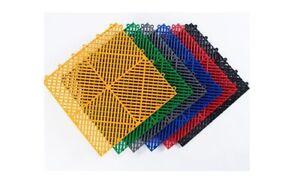 "Interlocking Vented Nitro Garage Floor Tiles 16""x16""   30 Pack"