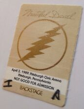 Grateful Dead Download Series #9 Pass 1989 Pittsburg